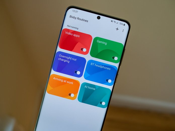 Bixby Routines on the Galaxy S20 Ultra