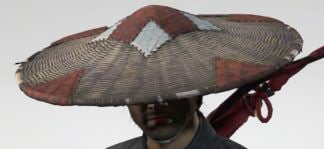 Ghost Of Tsushima Patchwork Straw Hat Cropped