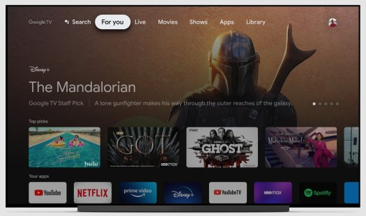 Google TV For You Tab