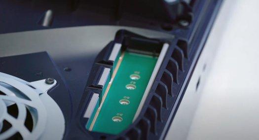 PS5 SSD upgrade slots