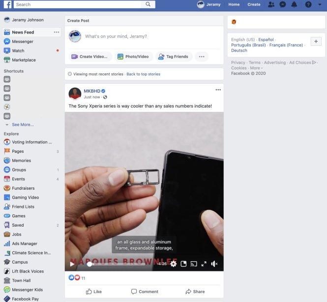 Turn off election reminders Facebook Desktop 1