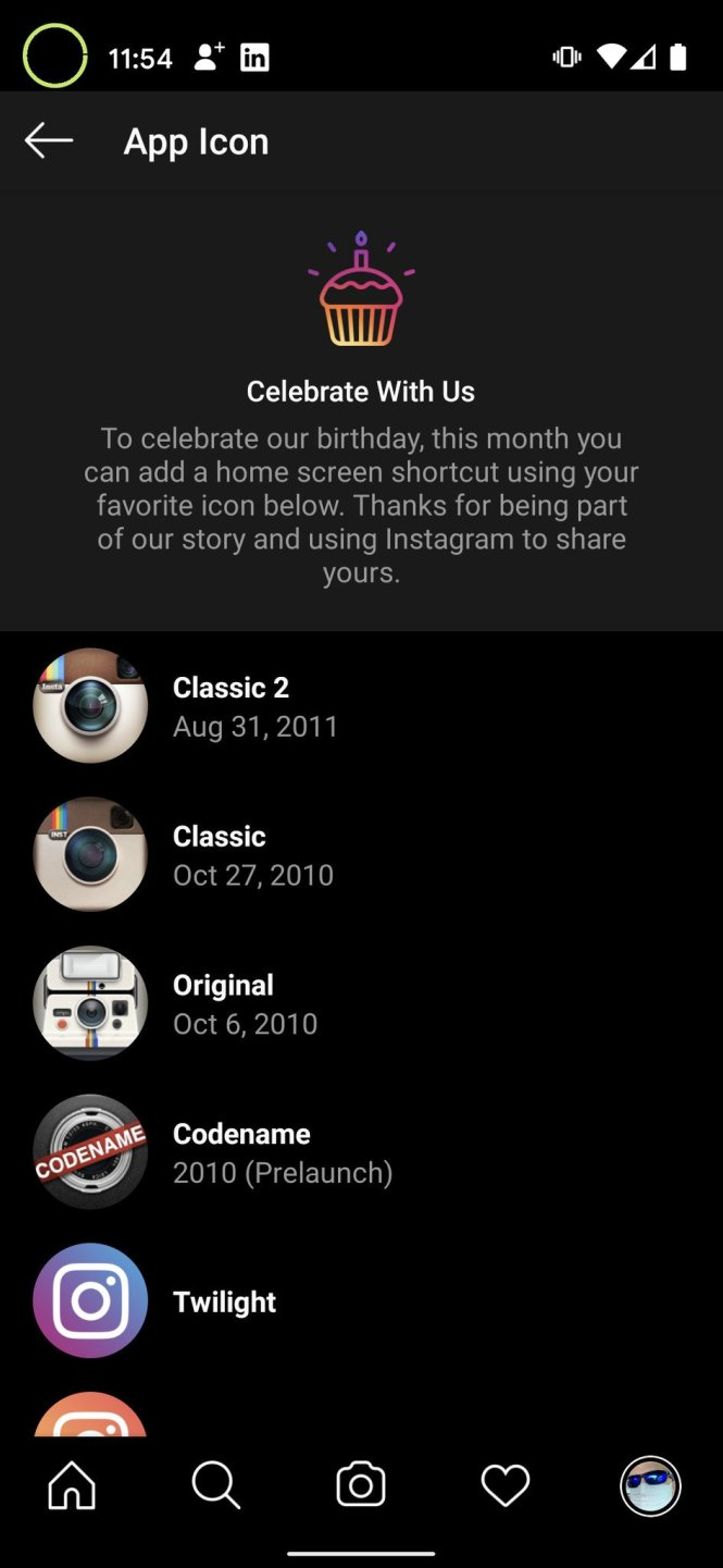 Custom Instagram icon on Android 5