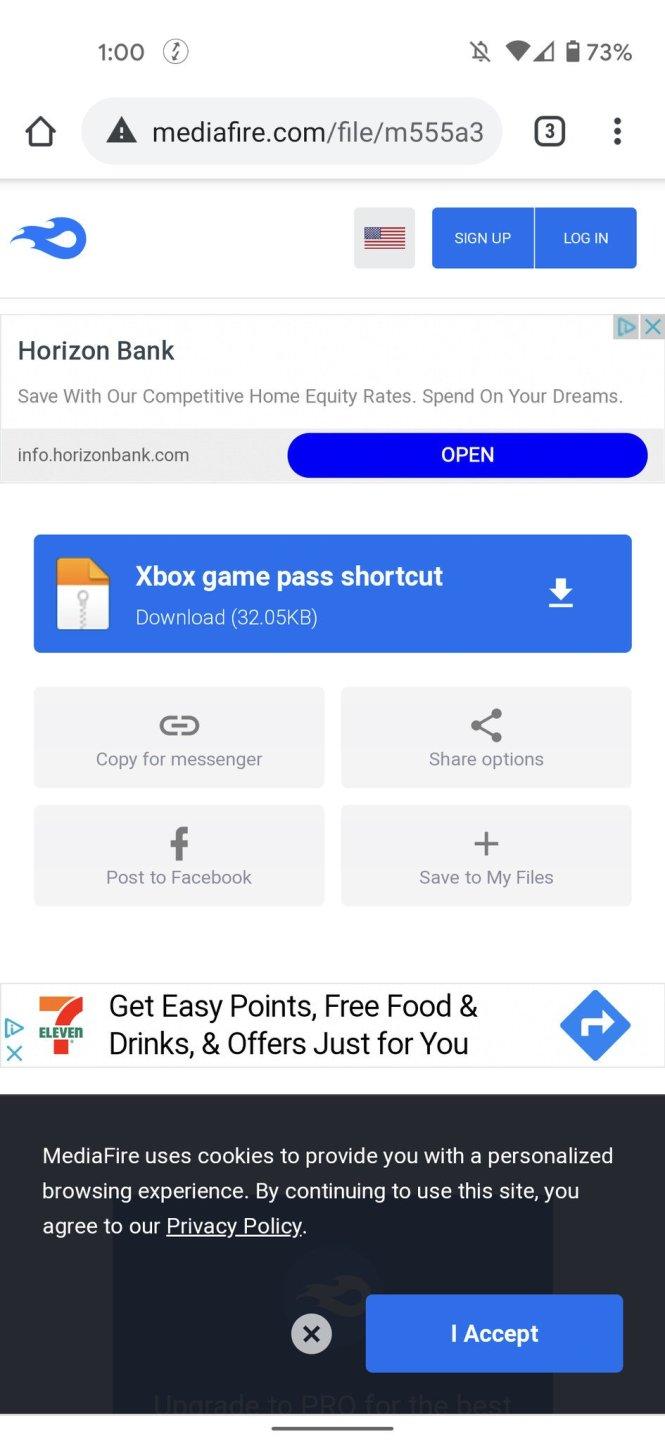 Xbox Game Pass home screen shortcut APK