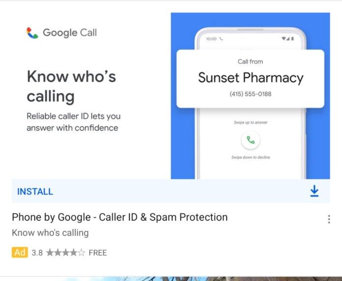 Google Call Phone App