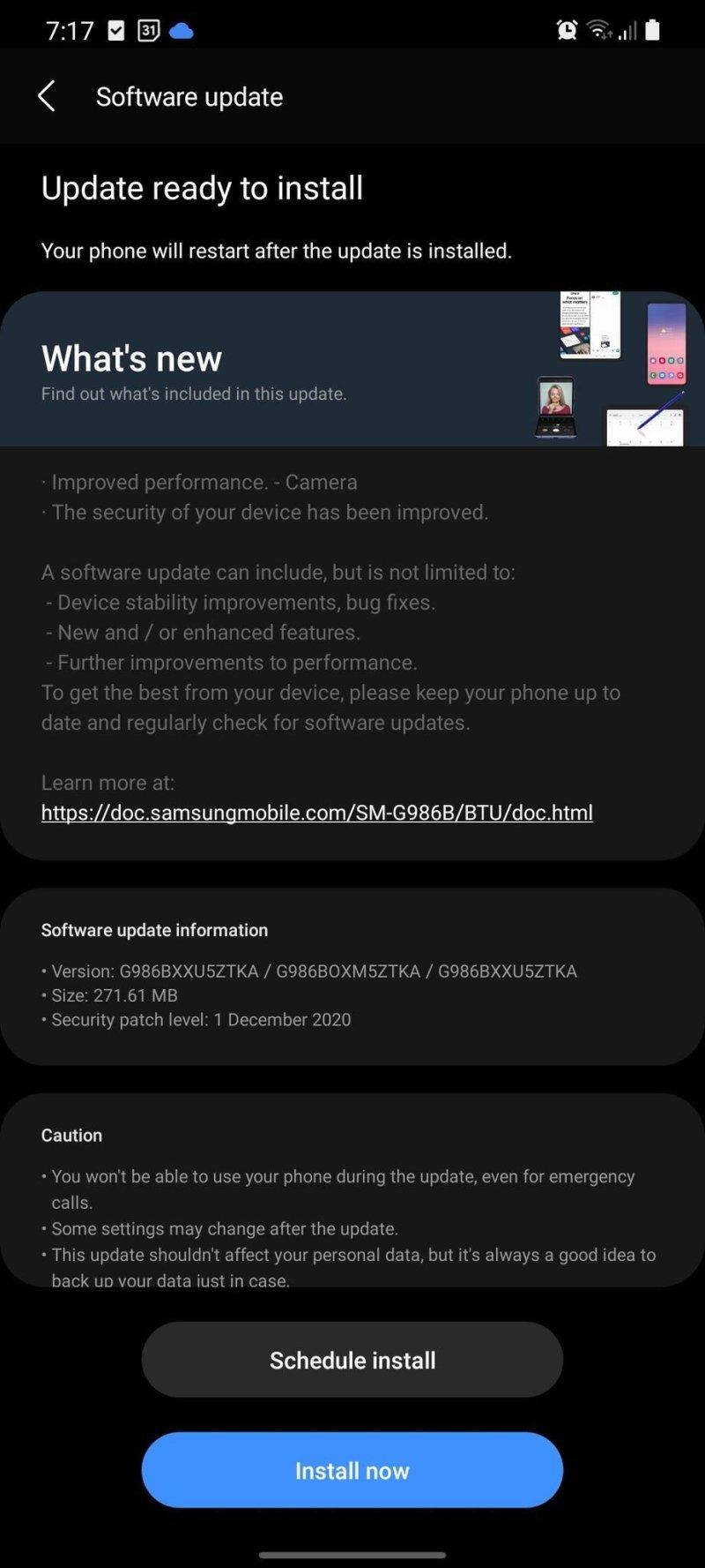 Samsung Galaxy S20 One Ui 30 Beta 4 Uk
