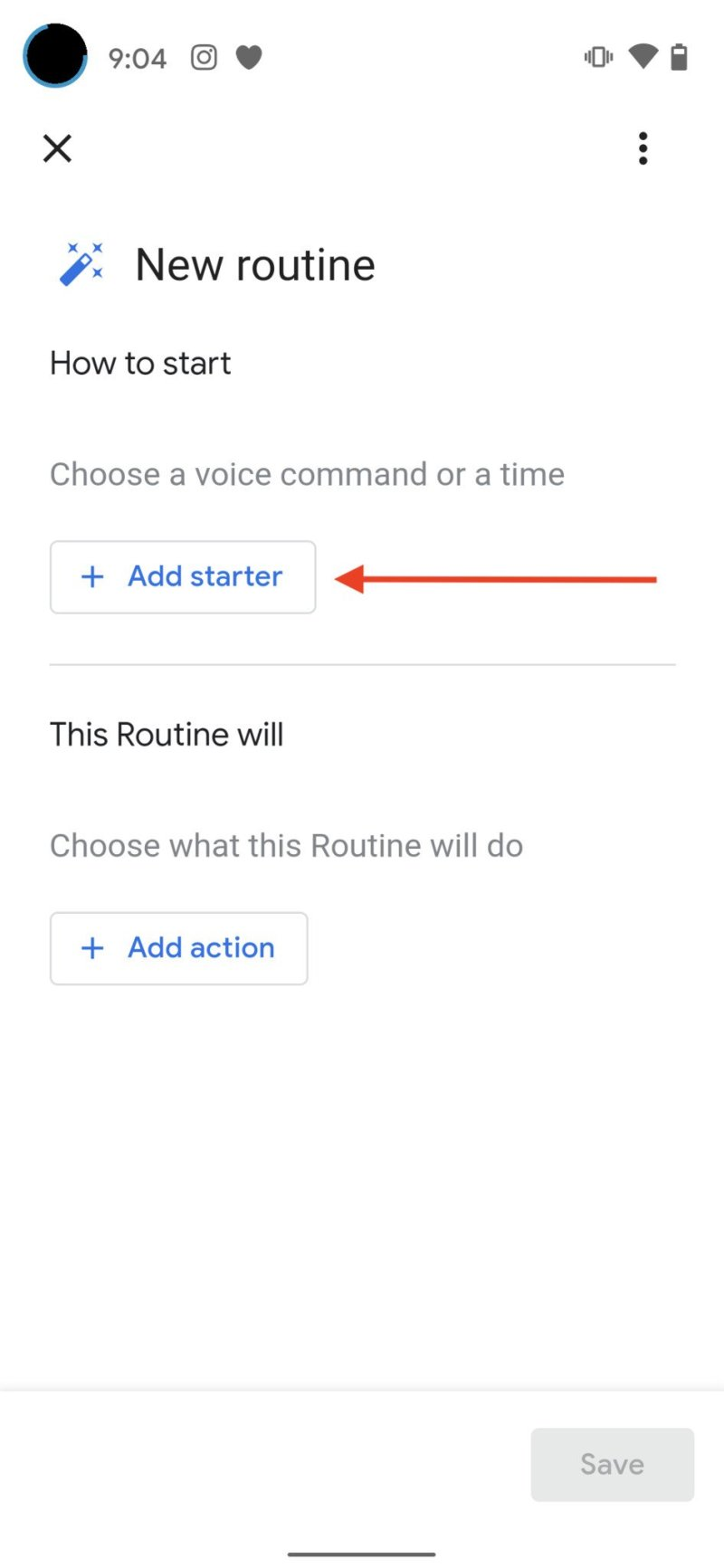Create Google Assistant Routine Step 3