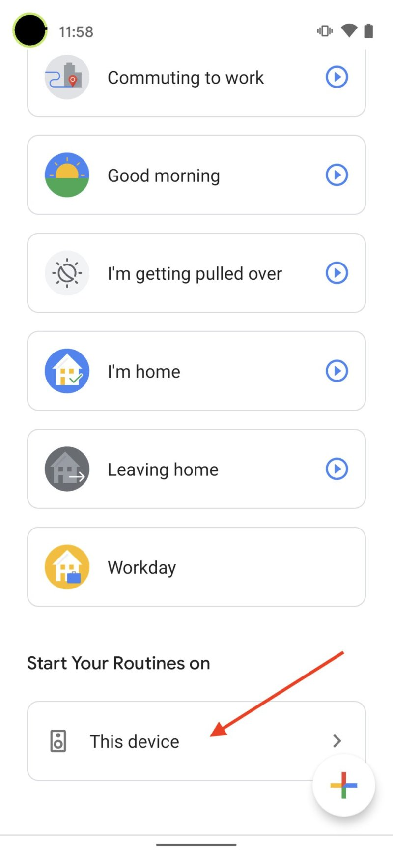 Google Assistant Routines Step