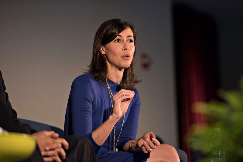 Jessica Rosenworcel, a commissioner with the U.S. Federal Communications Commission (FCC), speaks at INTX: The Internet & Television Expo in Chicago, Illinois, U.S., on Wednesday, May 6, 2015. The eve
