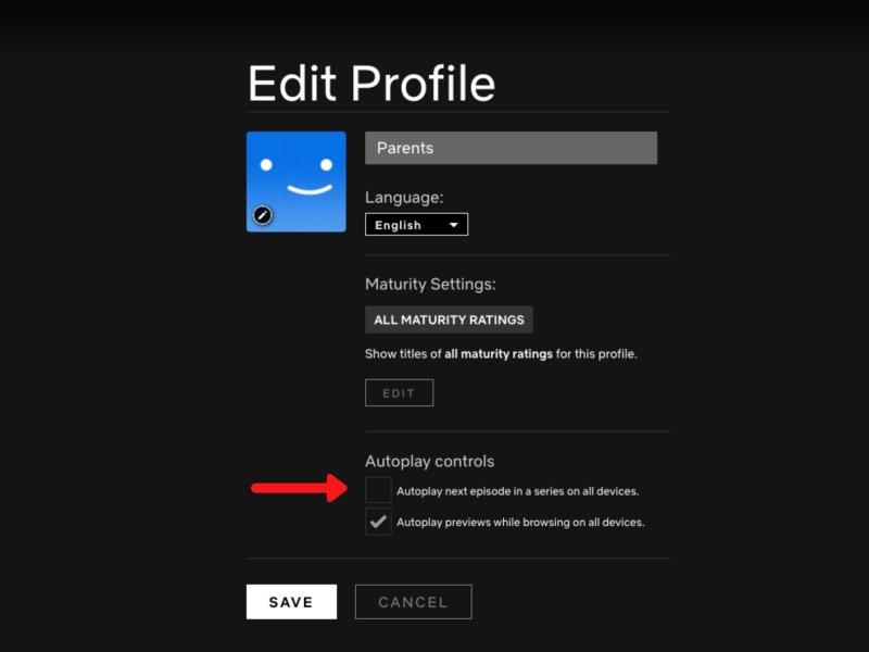 Netflix Manage Profile