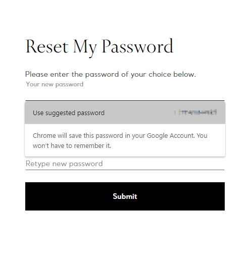 Chrome Password Suggest