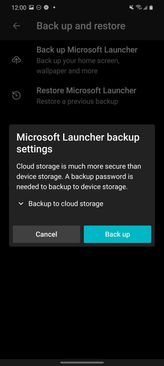 How To Backup Microsoft Launcher