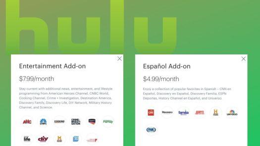 Hulu Channel Add Ons