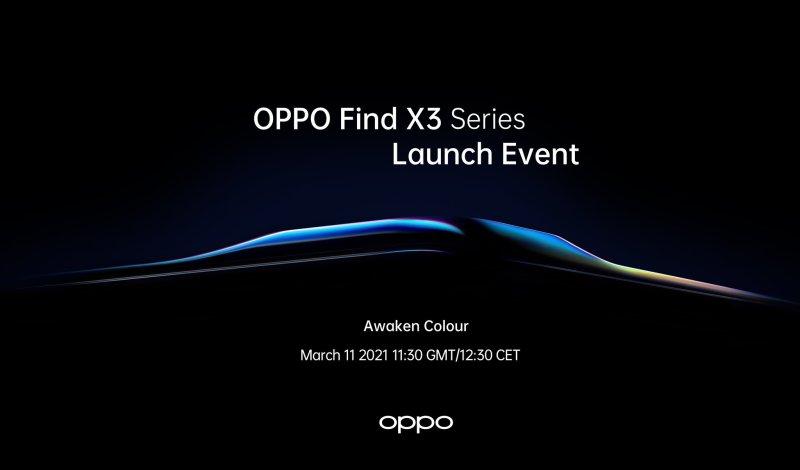Oppo Find X3 Launch Event Invitation