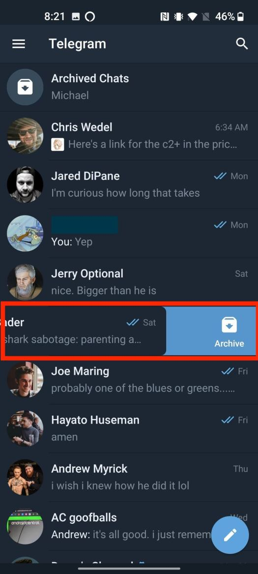 How To Archive Conversations Telegram 2