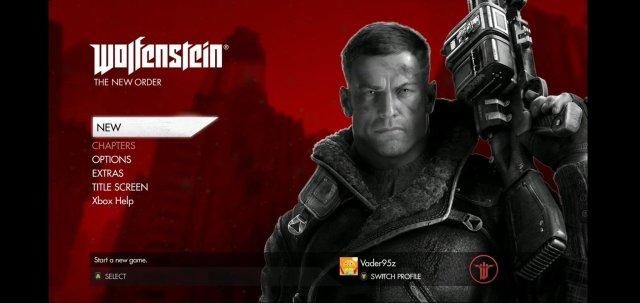 Wolfenstein New Order Game Pass Android Start Screen