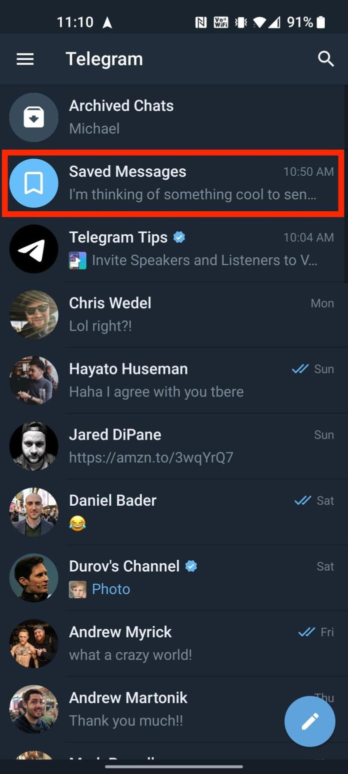 How To Bookmark Save Messages Telegram 7