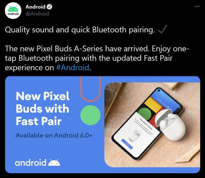 Google Pixel Buds A Leaked Tweet