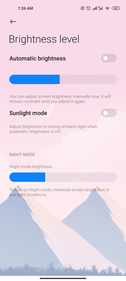 Android 11 Brightness