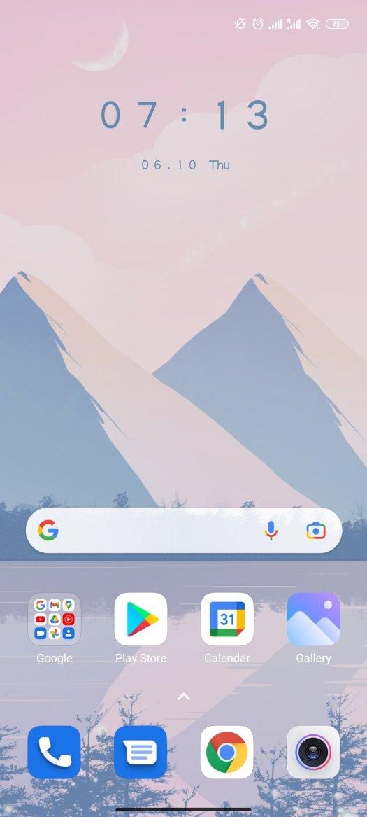 Android 11 Home Screenshot