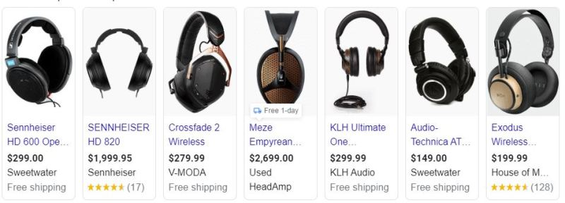 Headphone ads