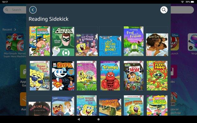 Amazon Fire Kids Tablet Reading Sidekick Screenshot