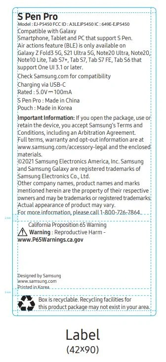 Samsung S Pen Pro Fcc Filing