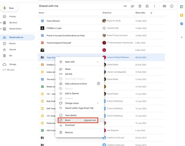 How To Block Spam Google Drive Web 1