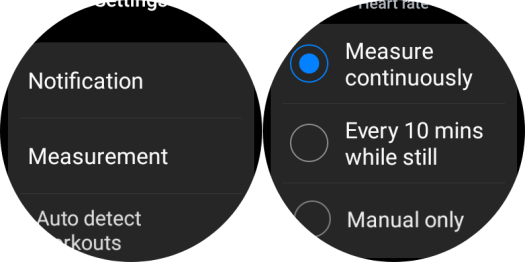 Changing Heart rate interval on Galaxy Watch 4