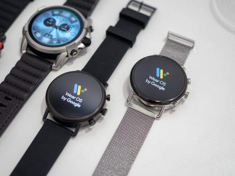 Skagen Falster 2 with Wear OS logo on the display