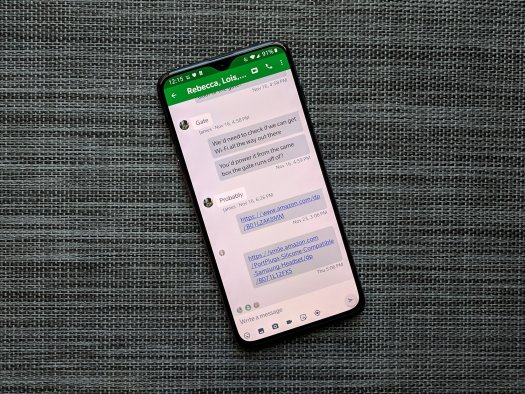 Google Hangouts on a OnePlus 6T