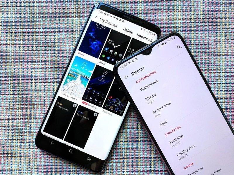 Thèmes sur Samsung et OnePlus