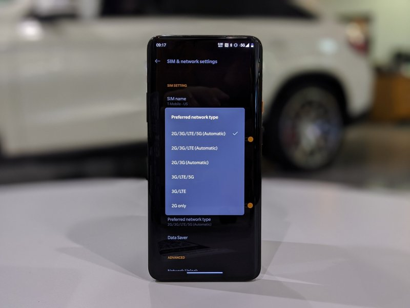 T-Mobile 5G on OnePlus 7T Pro McLaren Edition
