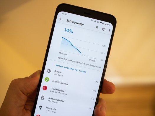 Google Pixel 4 XL battery life
