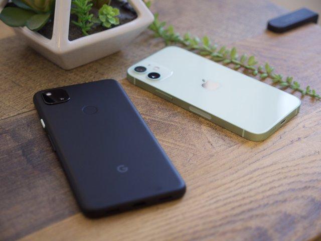 Pixel 4a and iPhone 12 mini
