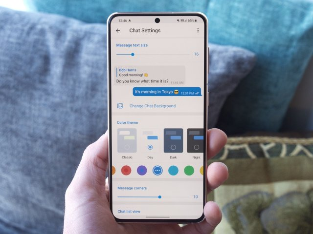Telegram customization options