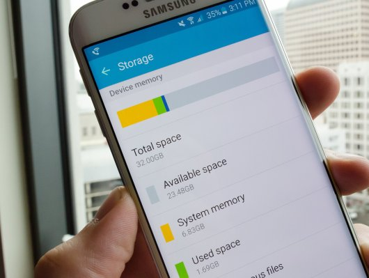 Galaxy S6 available storage