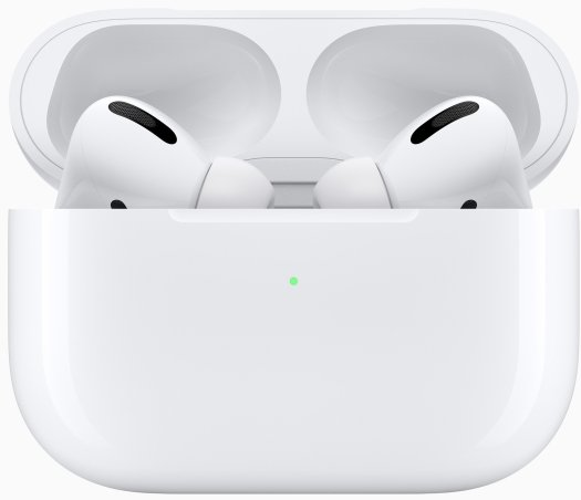 AirPods Pro in charging case with lid open