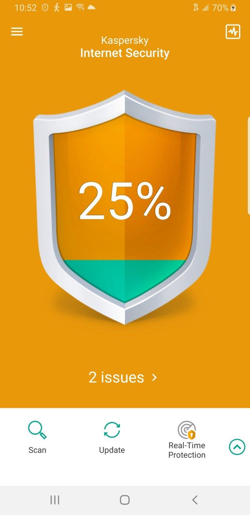 Kaspersky Mobile Antivirus Screenshot Edited