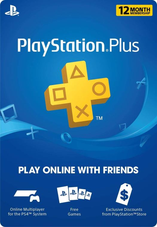 PS Plus 12 month gift card render