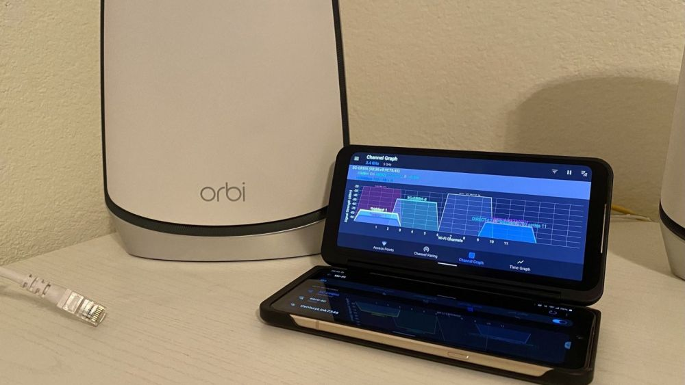 Wi-Fi analyzer with Orbi