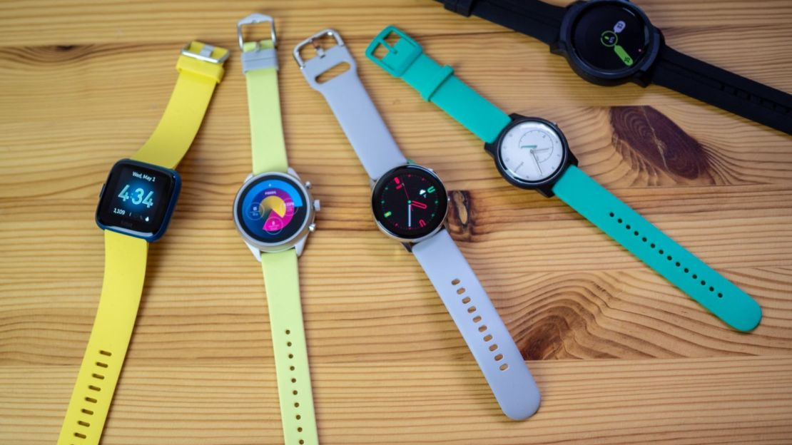 Lineup of smartwatches