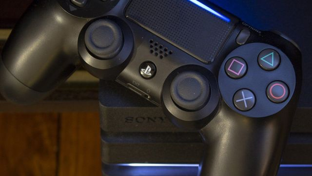 Sony logo with Playstation controller