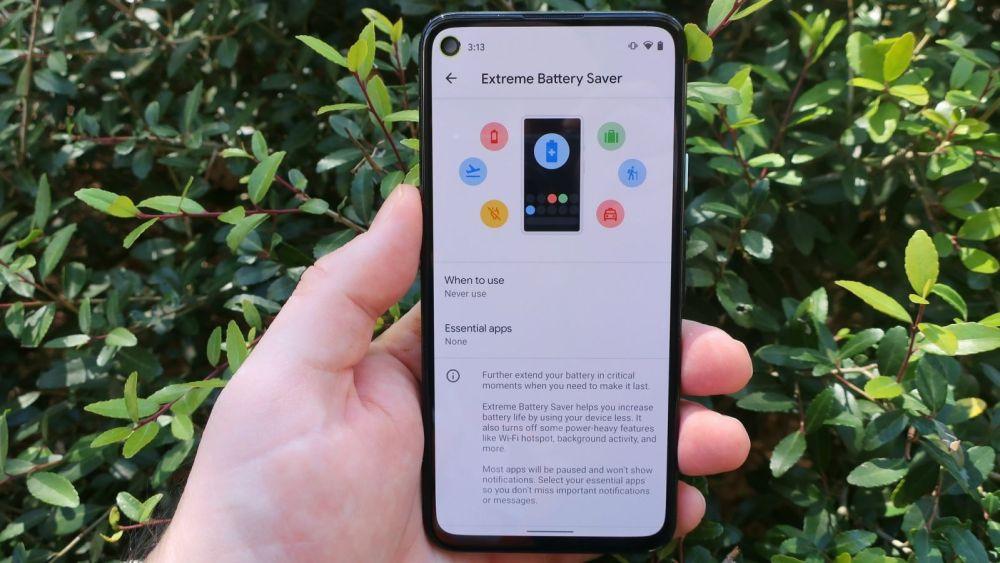 Google Pixel Extreme Battery Saver Mode