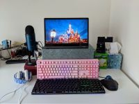 Instead, use a satisfying mechanical keyboard on your Chromebook!