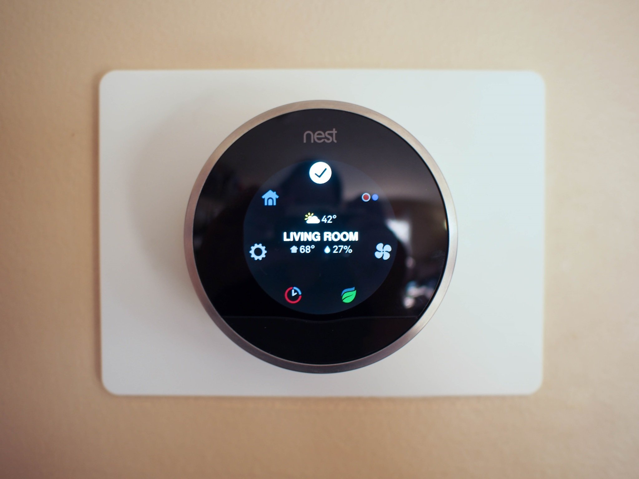 once your thermostat is installed the software setup can be done from either your phone or through the nest os you ll be asked to connect the thermostat  [ 1600 x 1200 Pixel ]