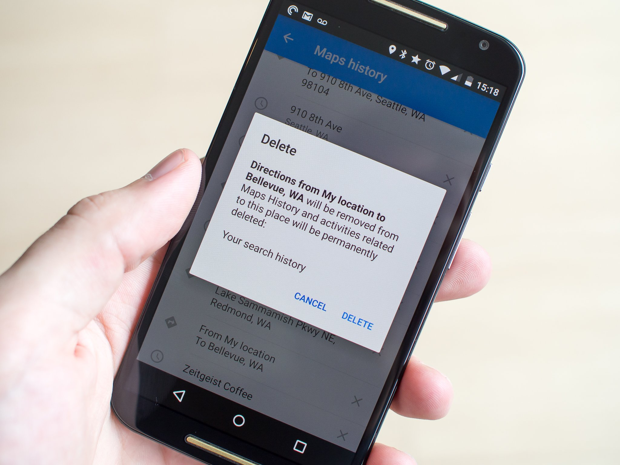 Clear And Location History In Google Maps Android Central