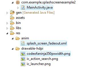 We'll work on three files in this example.