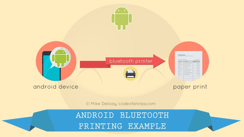 Android Bluetooth Printing Example Code with Actual Printer Device