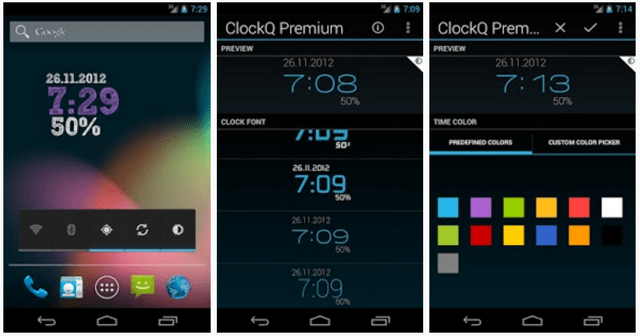 ClockQ – Digital Clock Widget