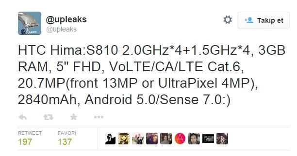 HTC'nin Son Akıllısının İsmi; Hima!